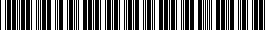 Barcode for PT9081201W02
