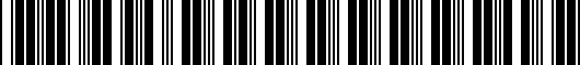 Barcode for PTR040000006
