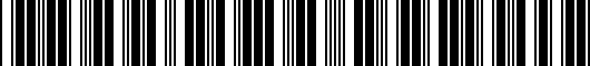 Barcode for PTS0233070AD