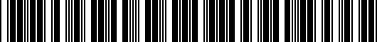 Barcode for PU06042S16P1