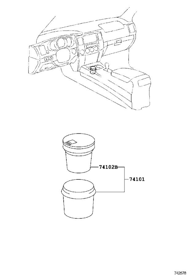 Diagram ASH RECEPTACLE for your 2016 Toyota Camry