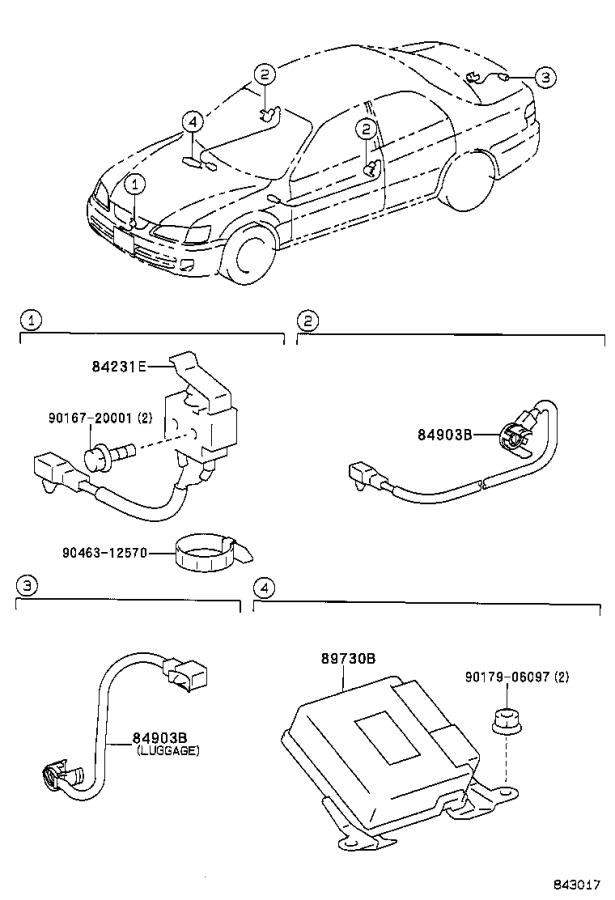 Diagram ANTI-THEFT DEVICE for your 1998 Toyota Camry