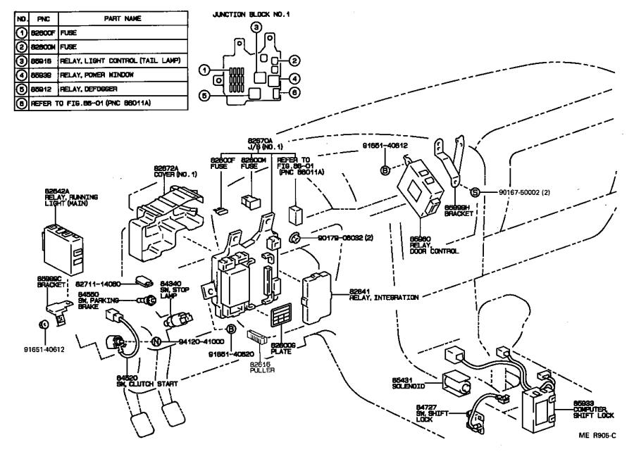 Diagram SWITCH & RELAY & COMPUTER for your 1992 Toyota Camry